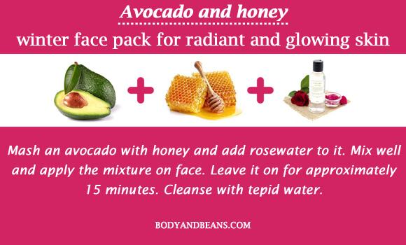 Avocado and honey winter special face packs for radiant and glowing skin