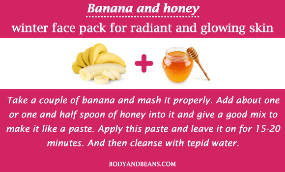 Banana and honey winter special face packs for radiant and glowing skin