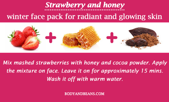 Strawberry and honey winter special face packs for radiant and glowing skin