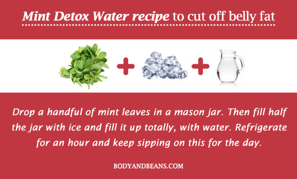 Mint Detox Water recipe to cut off belly fat