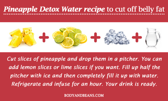 Pineapple Detox Water recipe to cut off belly fat