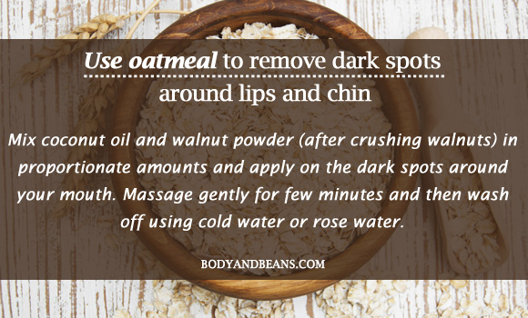 Use oatmeal to remove dark spots
