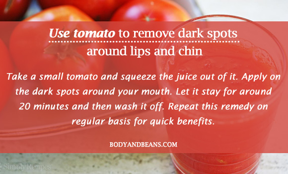 Use tomato to remove dark spots