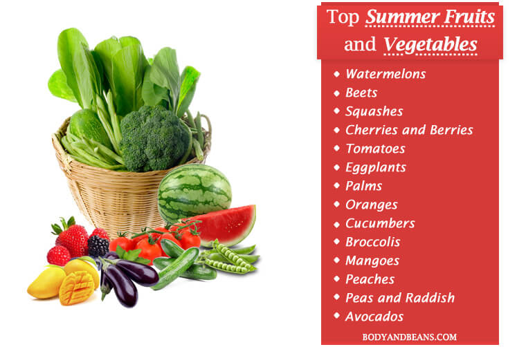 17 Top Summer Fruits and Vegetables to Eat This Season