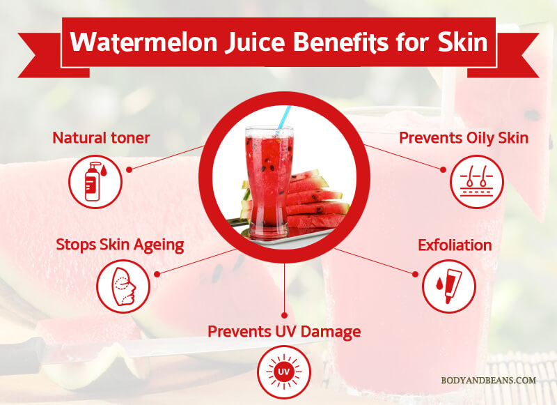 Benefits of Watermelon Juice for Health, Skin and Hair