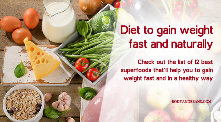 Diet to Gain Weight: Best Foods to Gain Weight the Healthy Way