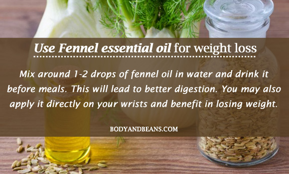 Fennel essential oil for weight loss