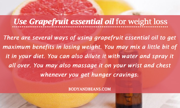 Grapefruit essential oil for weight loss