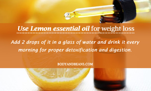 Use Lemon essential oil for weight loss