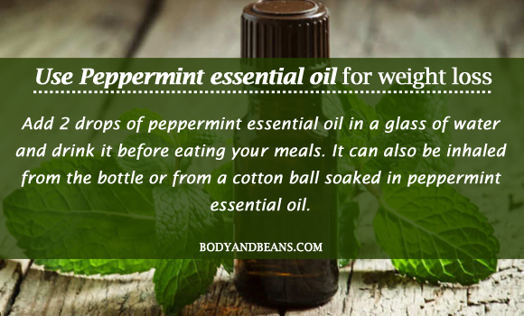 Use Peppermint essential oil for weight loss