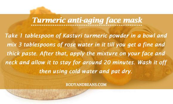 Turmeric anti-aging face mask