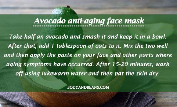 Avocado anti-aging face mask