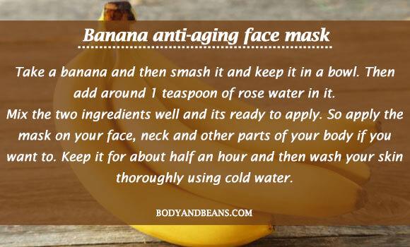 Banana anti-aging face mask