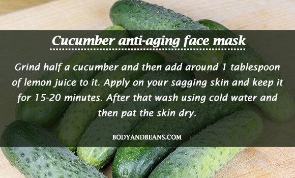 Cucumber anti-aging face mask