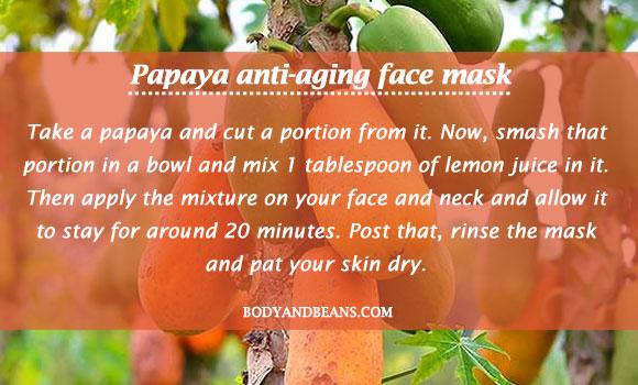 Papaya anti-aging face mask