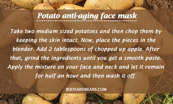 Potato anti-aging face mask