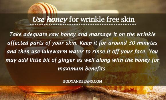 Use honey for wrinkle free skin