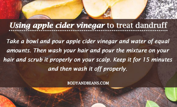 Using apple cider vinegar to treat dandruff