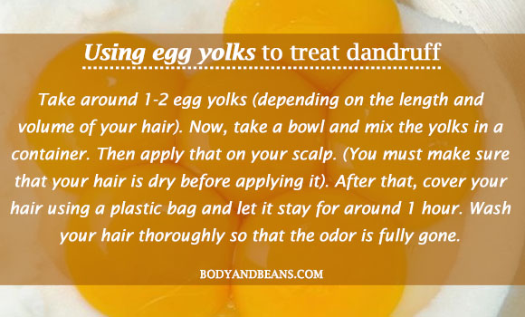 Using egg yolks to treat dandruff
