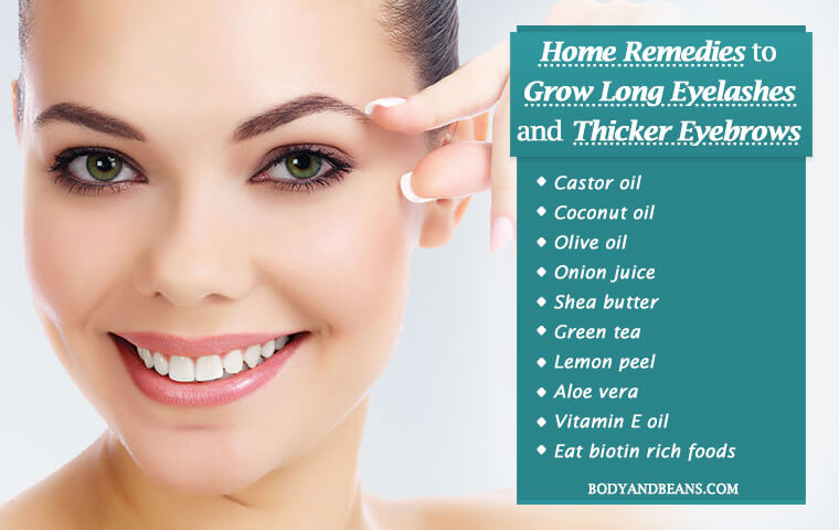 How to Grow Long Eyelashes and Thicker Eyebrows Naturally at Home