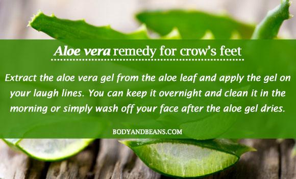 aloe vera remedy for crow's feet