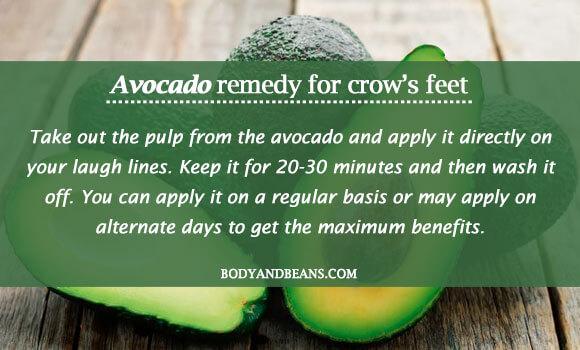 avocado remedy for crow's feet