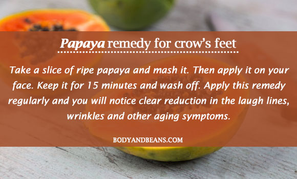 papaya remedy for crow's feet