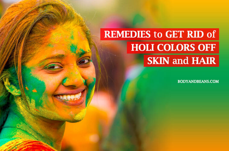 Home remedies to get rid of holi colors off skin and hair, easily and quickly