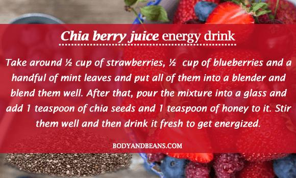 Chia Berry Juice - Homemade Energy Drink