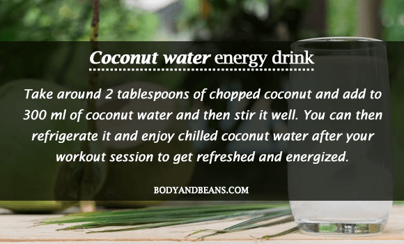 Coconut Water - Homemade Energy Drink