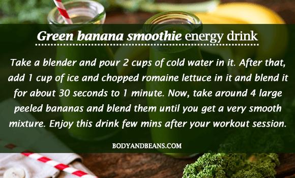 Green Banana Smoothie- Homemade Energy Drink