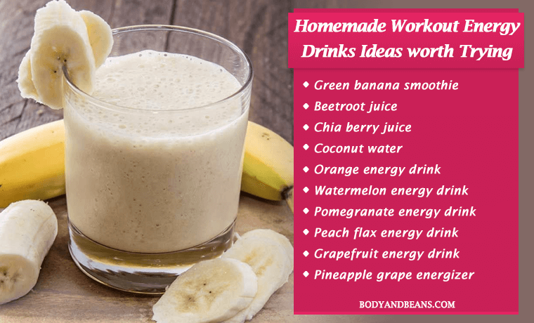Best homemade workout energy drinks recipes worth trying