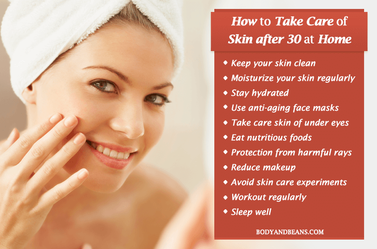 How to Take Care of Skin after 30 at Home - Best Practices