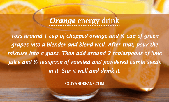 Orange Energy Drink