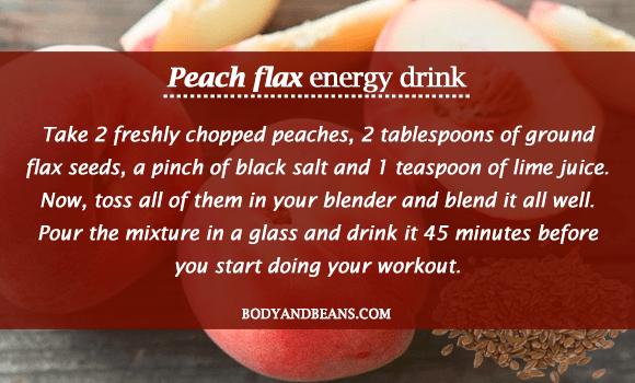 Peach Flax Energy Drink
