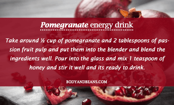 Pomegranate energy Drink