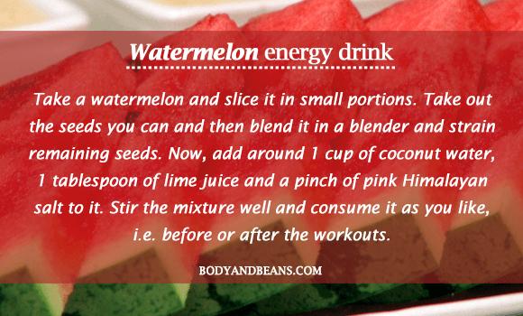 Watermelon Energy Drink