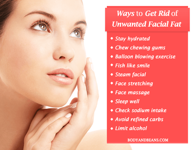 How to get rid of unwanted facial fat easily at home