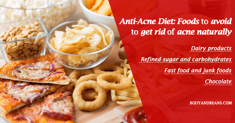Anti-acne diet: foods to eat to get rid of acne