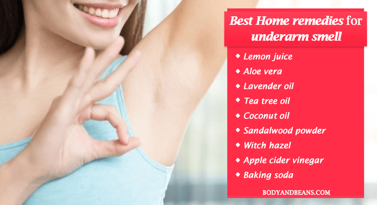 Best natural remedies to get rid of underarm smell