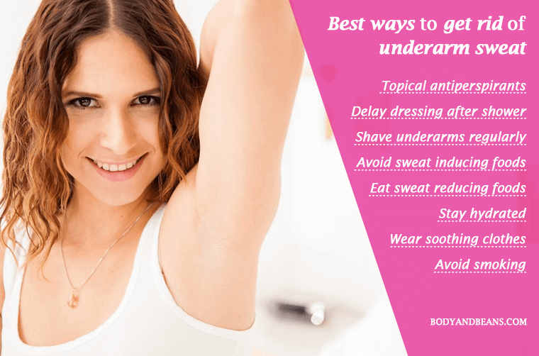 Best ways to get rid of underarm sweat