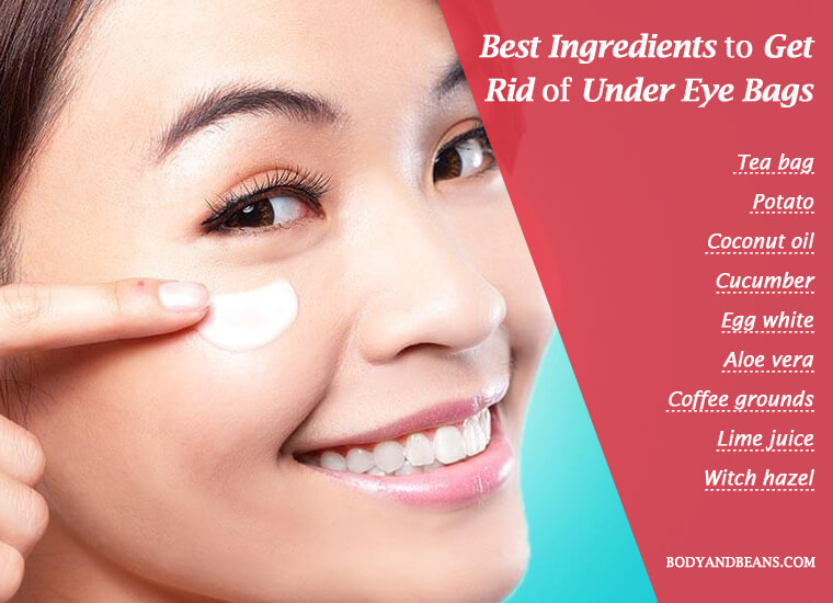 Home remedies to get rid of under eye bags naturally
