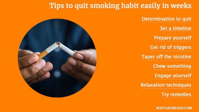 Comment arrêter rapidement et facilement l'habitude de fumer